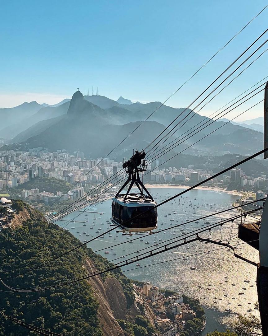 El famoso teleférico del Pan de Azúcar de Río